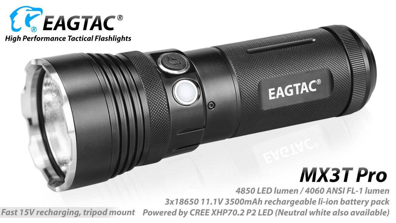 EAGTAC MX3T Pro, CREE XHP70.2