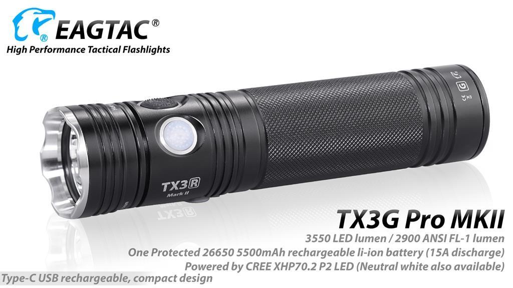 EAGTAC TX3G Pro MKII, XHP70.2