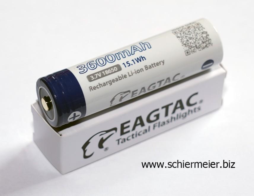 EAGTAC 18650, 3600mAh, protected