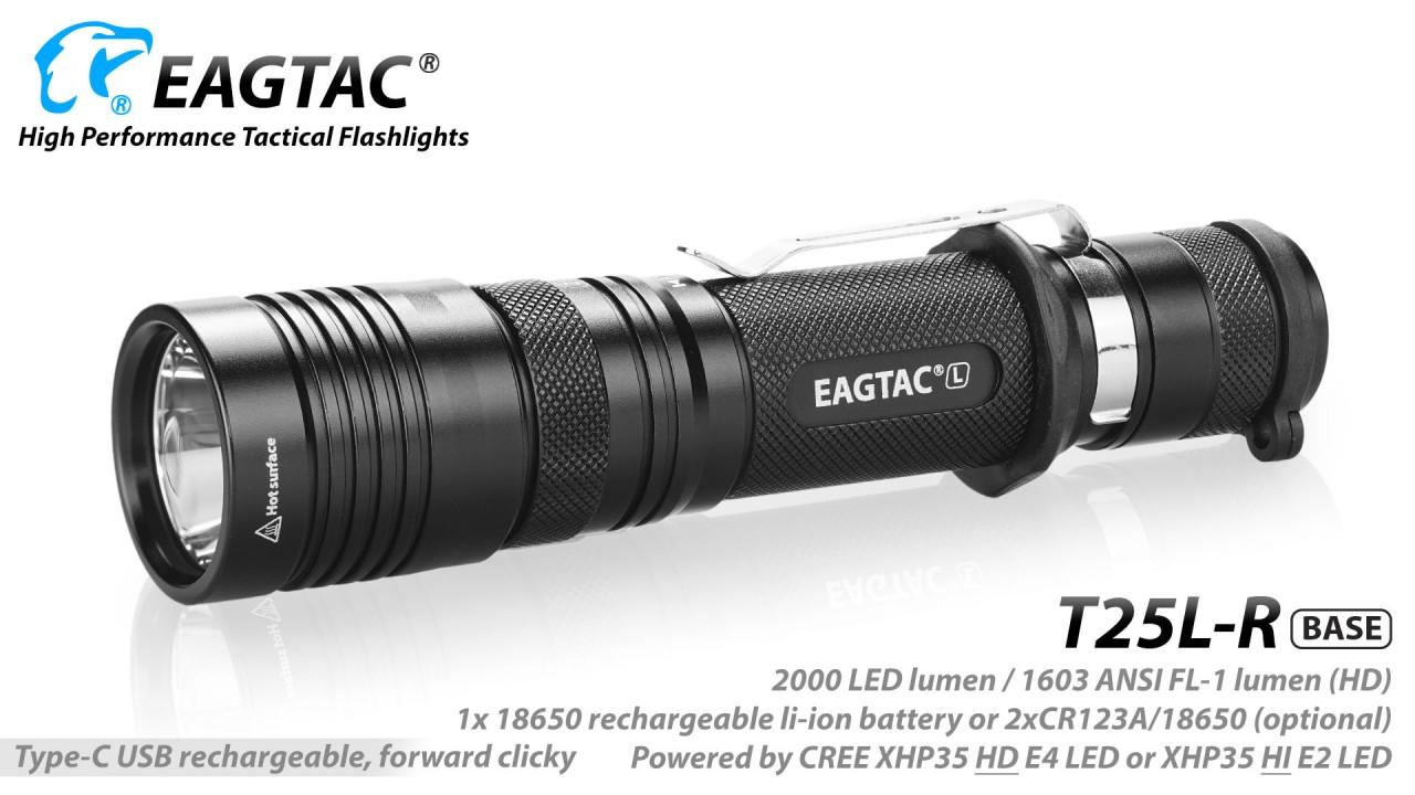 EAGTAC T25L-R MKII, XHP35 HI, cool white, base