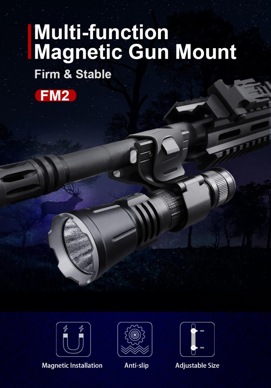Klarus FM2, magnetische Waffenhalterung