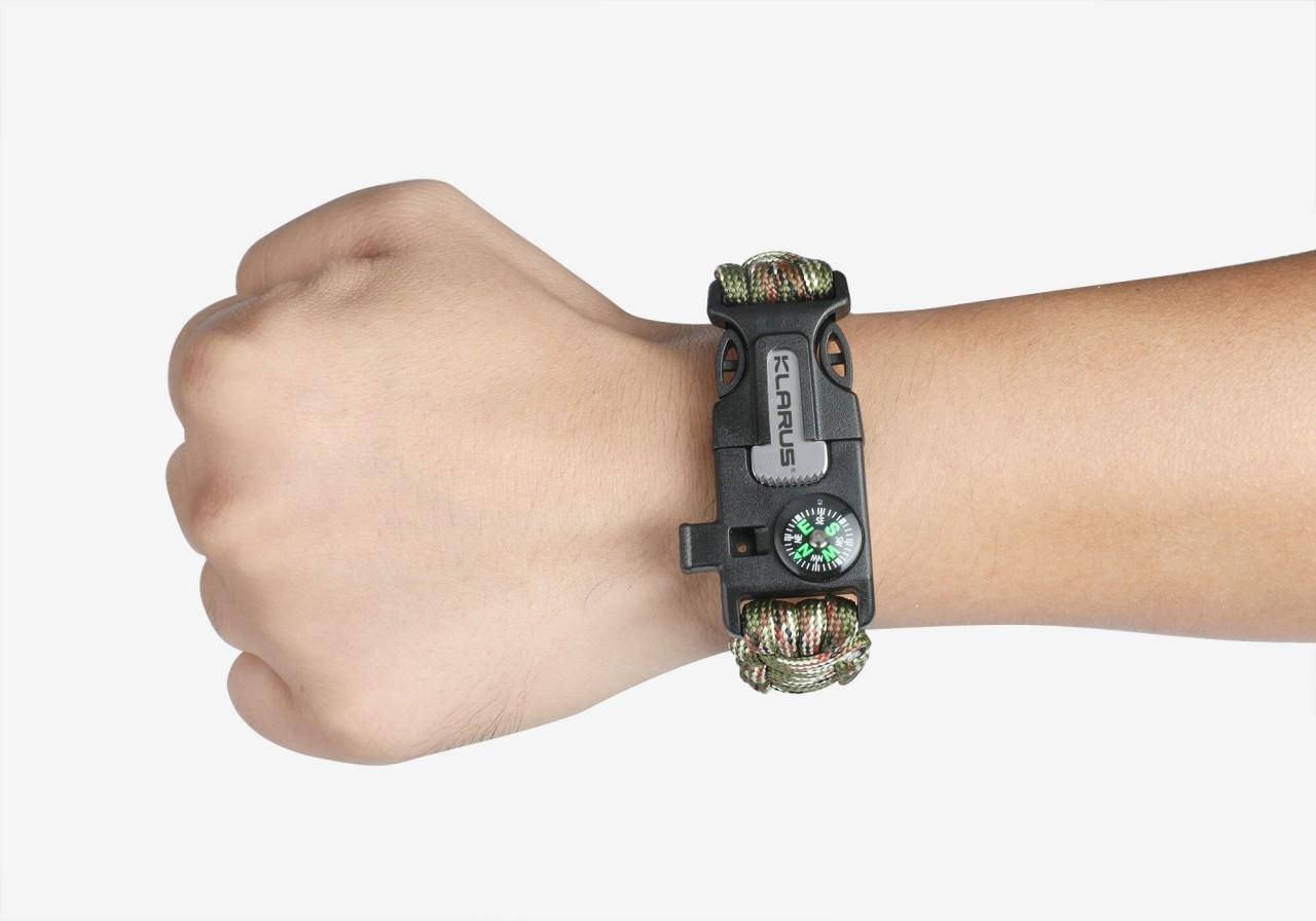 Klarus Survival Armband mit 5 Funktionen